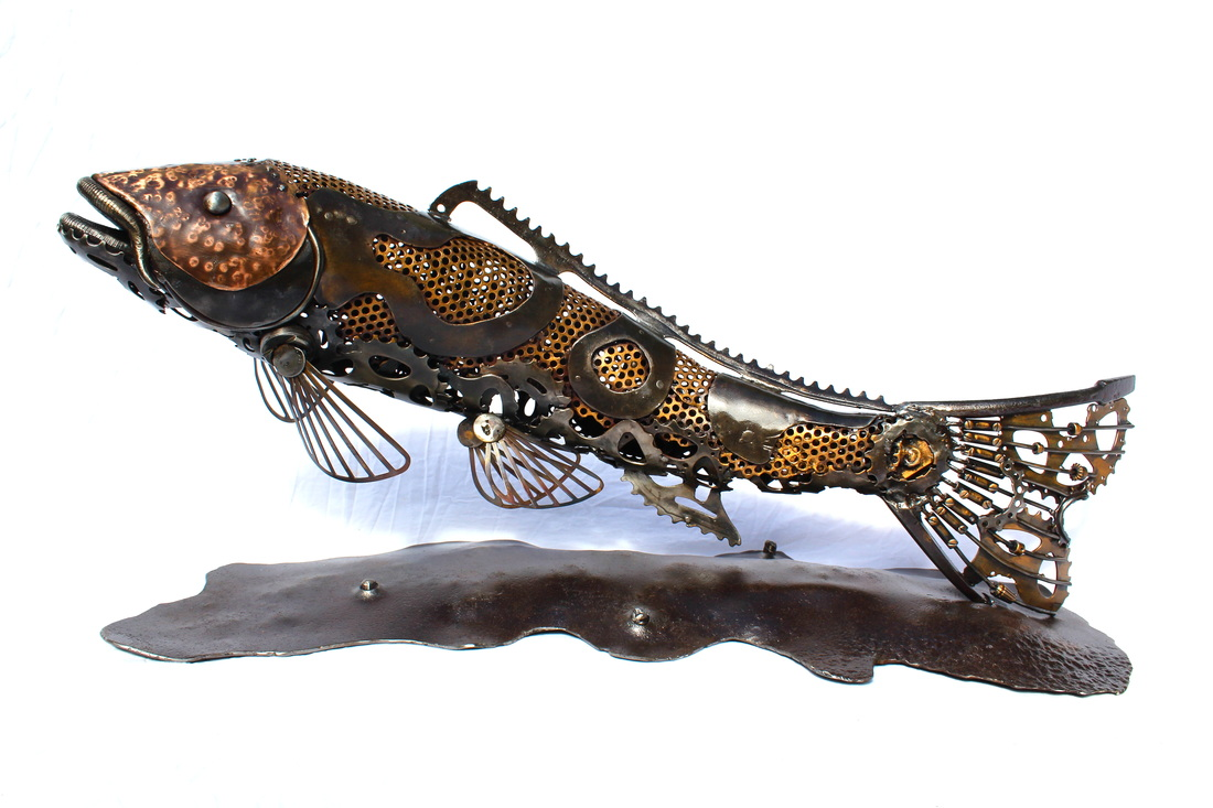Koi carp sculpture