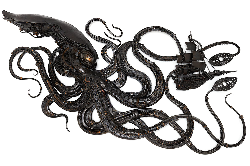 Alan Williams Metal Artist - Kraken