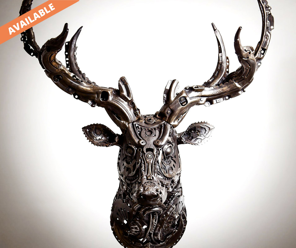 STAG - Car, motorbike and bicycle parts, found and reclaimed steel